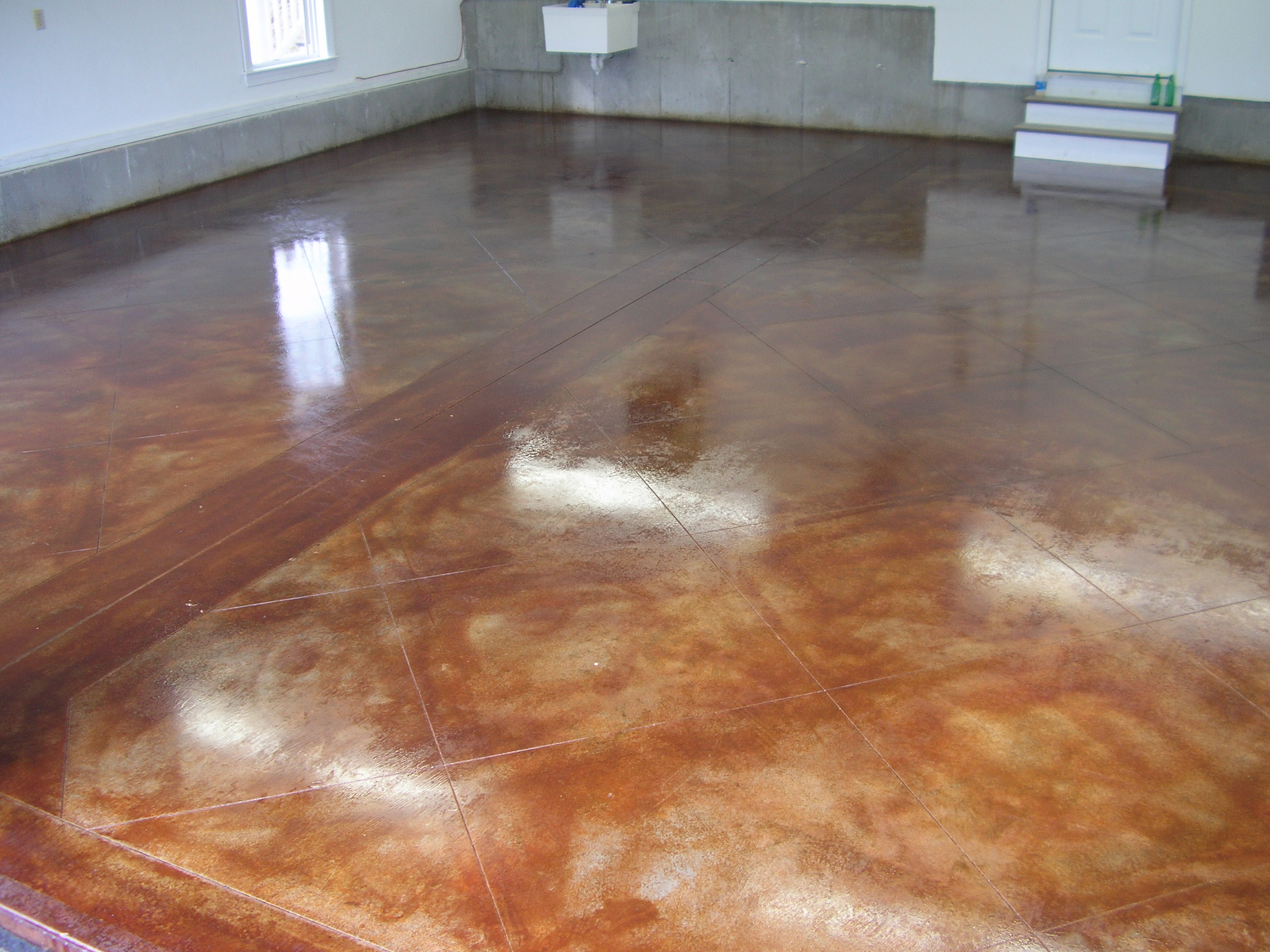 Acid Stained Concrete Floors Amp Countertops Lafountain Garage