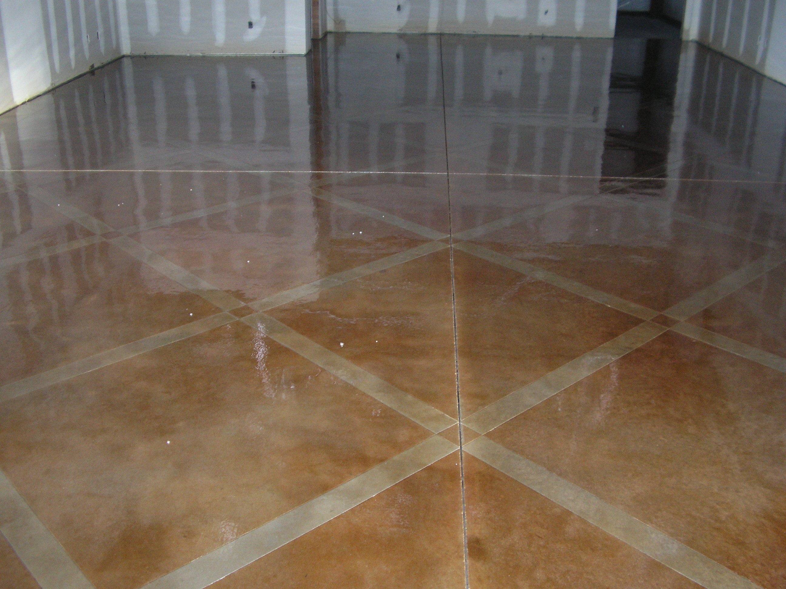 Click To Enlarge The Office 1 Scored And Stained Concrete